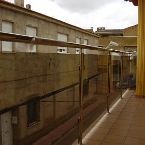 barandilla de acero inoxidable para balcón