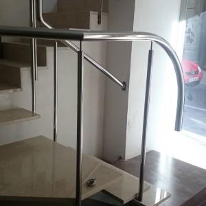 barandilla acero inoxidable escalera posterior