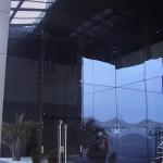 pomo de la puerta de entrada barra en aluminio