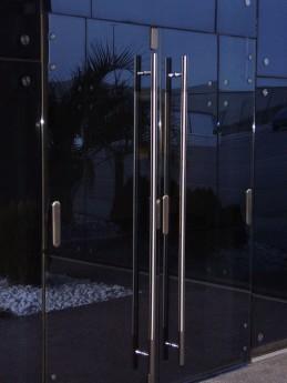 pomo puerta barra de aluminio