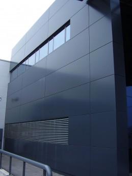 fachada ventilada de aluminio lateral