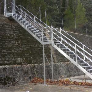 barandilla escalera exterior aluminio