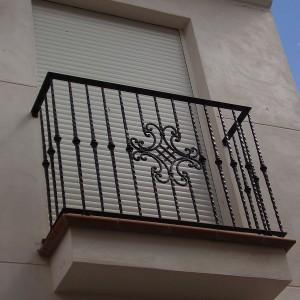 reja metálica para balcón lateral