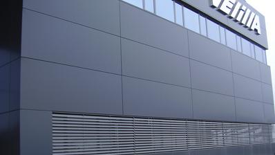 trabajo realizado fachada ventilada en aluminio velilla